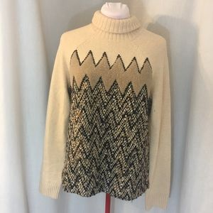 Tory Burch Cream Pattern Sweater